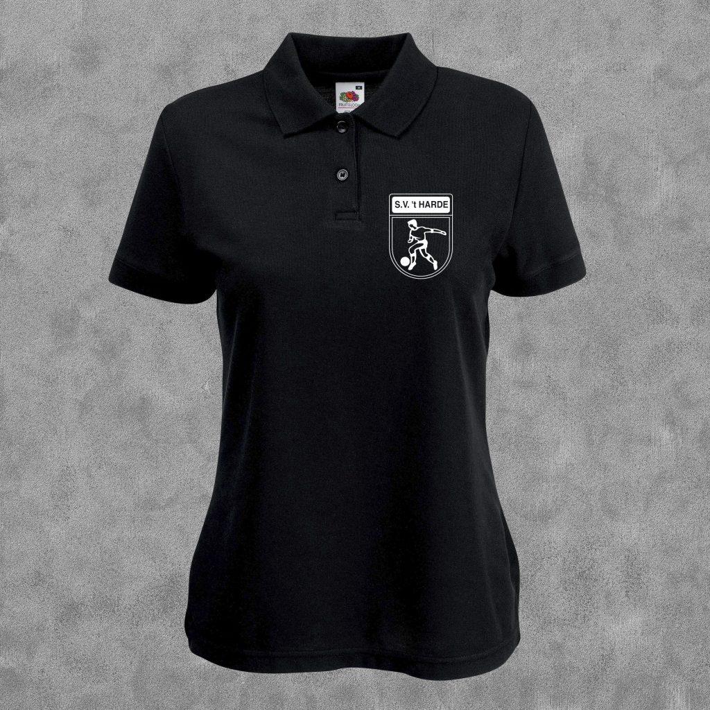 Poloshirt zwart met wit logo