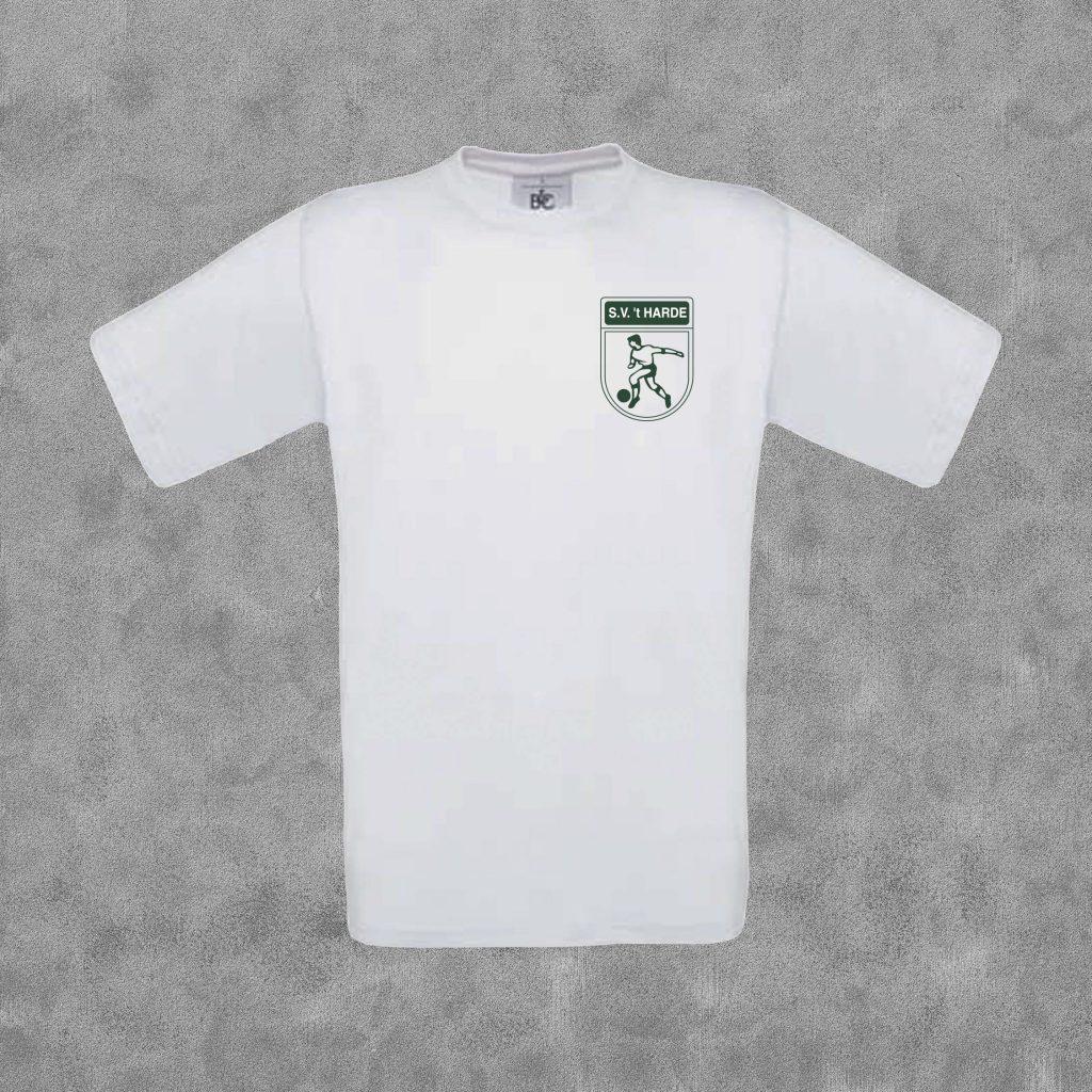 T-shirt kids wit met groen logo