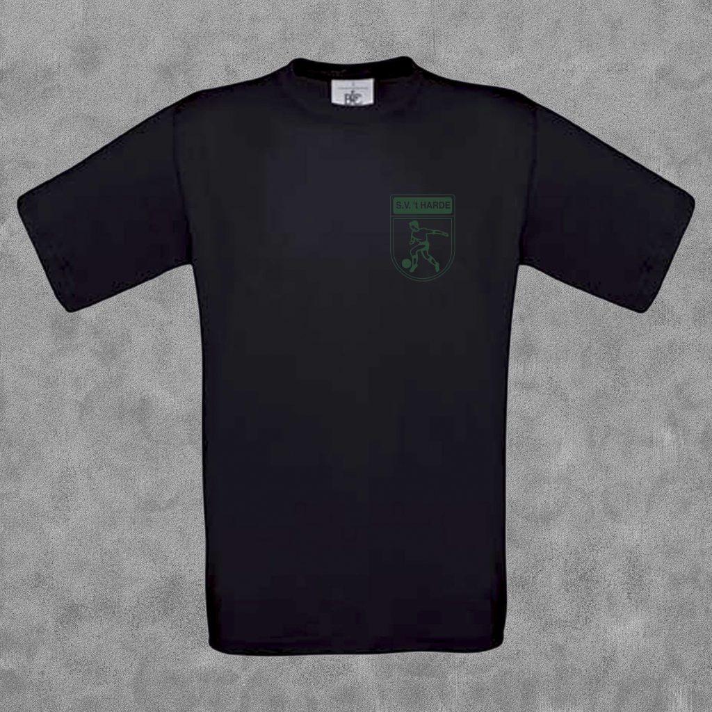 T-shirt kids zwart met groen logo